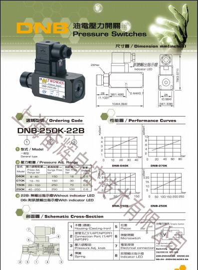 50K 06I压力继电器TWOWAY充液阀现货供应