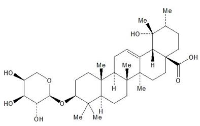 35286-59-0地榆皂苷II 地榆苷成都德锐可生物对照品 地榆皂苷II、地榆苷 Ziyuglycoside II 提取来源: 冬青科植物冬青(I. pubescens Hook. et Arn.)、地榆 药理药效: 地榆皂苷II具有收缩血管,止血,抗真菌的作用 鉴别方法: NMR; MS 检测方法: C1 8柱 ;流动相 :甲醇 水 (5 94 1) ;流速 1 0mL?