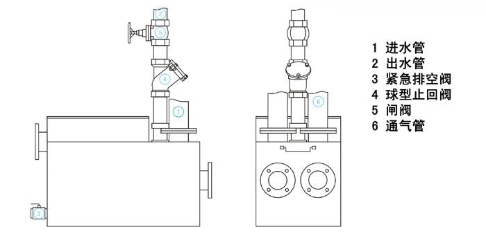 带两台污水泵自动手动接线图