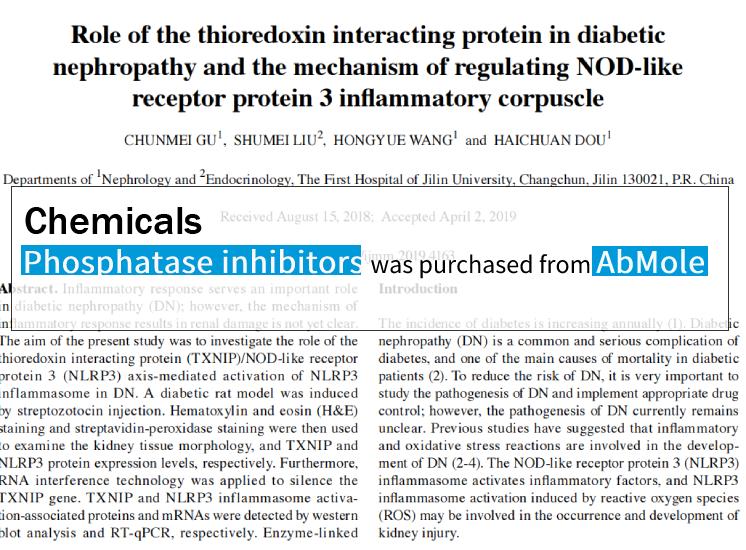 AbMole科研-硫氧还蛋白相互作用蛋白调控NOD样受体蛋白3炎症小体的机制